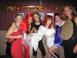 Famous redheads party