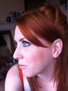 Redhead 1960s make up