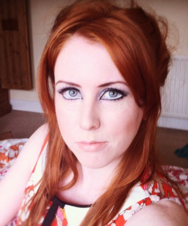 Sixties makeup look on a redhead