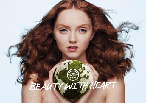 Lily cole Body Shop make up