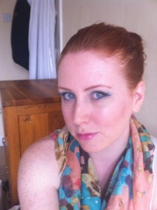 Redhead pastel make up look
