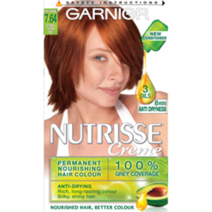 7 64 copper blond garnier nutrisse into the red